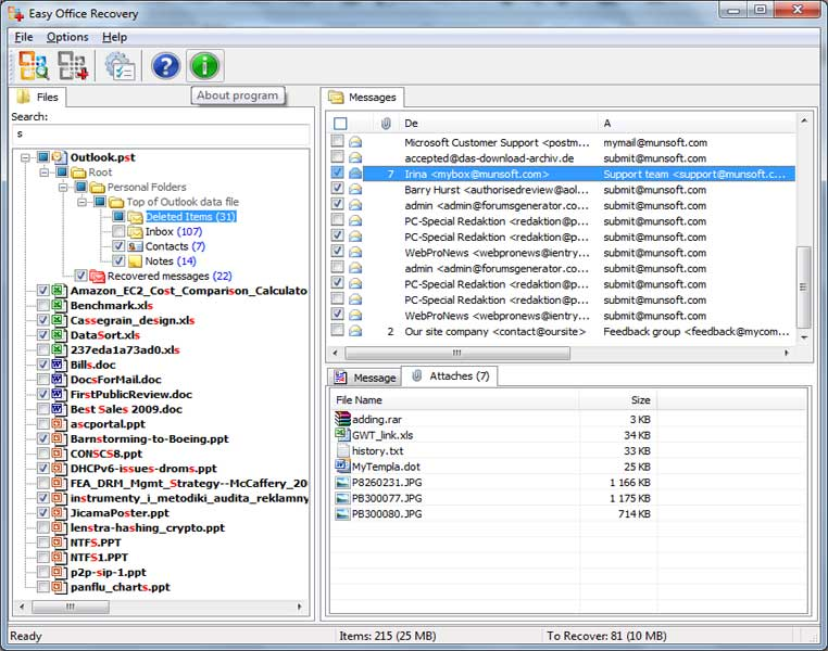 Click to view MunSoft Data Recovery Suite screenshots
