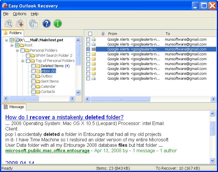 Click to view Easy Outlook Recovery screenshots