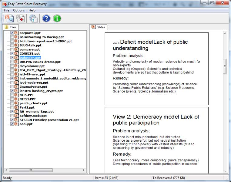 Windows 7 Easy PowerPoint Recovery 1.0 full